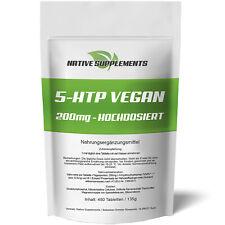 450 Tabletten 5-HTP Vegan - 200mg Hochdosiert / 5-Hydroxytryptophan - Serotonin