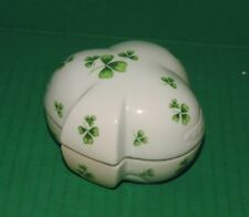Trinket Box Lefton 1990 Musical Shamrock
