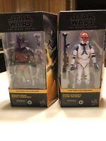 Star Wars Black Series Clone Wars 332ND Trooper&Super Commando Walmart Exclusive