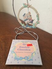 russ easter classics springtime ornament #5923 bunny with paint can