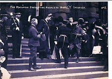 PHOTOGRAPH MAYORESS PRESENTING MEDALS TO ROYAL ARMY MEDICAL CORP T IPSWICH C1912
