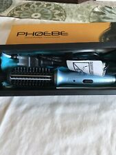 PHOEBE Mini Travel Curling Iron Hair Brush, 3/4 Inch Dual Voltage Ceramic Ionic