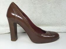 COACH Cognac Leather CAMMY Perforated Pumps 6 B