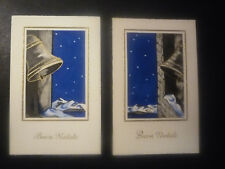 2 POSTCARD MERRY CHRISTMAS-Survey bells