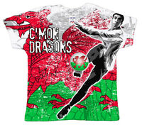"DF ""C'mon Dragons"" Wales Football Team Euro Baby T-Shirt All Over Print"