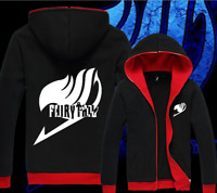 Hot Anime Fairy Tail Cool Popular Thicken Sweatshirt Hoodie Coat Jacket Unisex