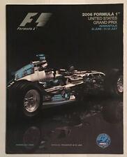 2006 formula 1 U S grand prix indianapolis program