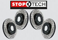 [FRONT + REAR SET] STOPTECH Drilled Slotted Brake Rotors [w/AKEBONO] STS58233