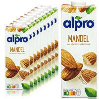 Alpro - 10 x Mandeldrink Original 1 Liter - Mandel Almond Drink 100 % pflanzlich