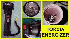 Torcia ENERGIZER portatile in plastica piccola nera con fuoco regolabile