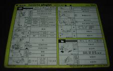 Inspektionsblatt Toyota Starlet EP 70 / EP 71 Werkstatt Service Blatt 10/1984