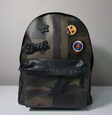 Coach Charles Varsity Dark Green Camo Patches Backpack F59906