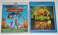 Kid Blu-ray 3D Lot - ParaNorman 3D (Used) Cloudy With A Chance of Meatballs