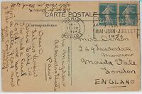 OLYMPIC GAMES  -  POSTAL HISTORY - FRANCE : Postcard  with special postmark 1924