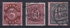 DR Dienst Mi Nr. 66 - 68, gest., Dienstmarken Deutsches Reich 1921, used