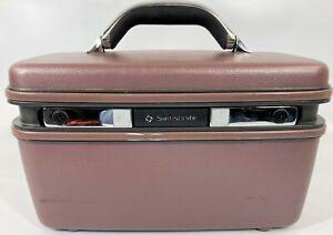 Vintage 1987 Samsonite Silhouette 4 Lavender Purple Hard Makeup Overnight Case