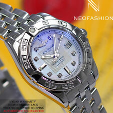 BREITLING GALACTIC 32 SS FACTORY ORIGINAL WHITE DIAMOND DIAL LADIES WATCH A71356