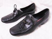 PRADA Women's Loafer Style Shoes Size 39 Black Walking Driving Made in Italy