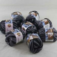8BallsX50g Special Thick Worsted 100% Cotton Hand Knitting Yarn Black Gray 39
