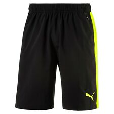 Puma Men Dry Cell Techstripe Black Yellow Training Stretch Shorts 83955231 M New