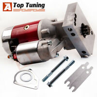 FOR SBC BBC Chevy 3HP Mini Starter Red - Dual Inline 153 168 Tooth 305 350
