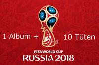 Panini WM 2018 Russia World Cup Sticker Album + 10 Tüten Booster NEU OVP
