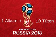 PANINI WM 2018 Russia World cup sticker album + 10 cartocci BOOSTER NUOVO OVP