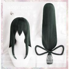 My Boku no Hero Academia Tsuyu Asui 80cm Long Dark Green Cosplay Hair Wig + Cap