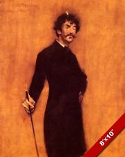 PORTRAIT PAINTING OF ARTIST JAMES WHISTLER 1885 WM CHASE ART REAL CANVAS PRINT