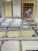 Mary Engelbreit Lot Stationery Note Pads Book Magnets New
