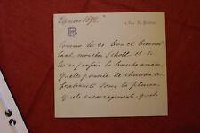 ✒ L.A.S. Henry BAUËR fils de Dumas à Aurélien SCHOLL - remerciements