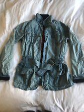Blue Barbour Tartan Beadnell waxed jacket size 12