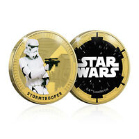 Star Wars Gifts Limited Edition Collectable Stormtrooper Gold Plated Coin Medal