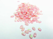 5x3mm Opal Oval Cabochon, Synthetic Opal - Pink, Wholesales, 50pcs