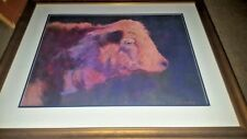 COW ORIGINAL OIL PASTEL ARTIST SIGNED S. WILLIAMS