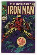 Iron Man #1 Marvel Comics 1968 Gene Colan Low Grade 1st Solo Issue! (j#1927)