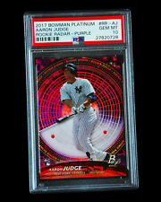 Aaron Judge 2017 Bowman Platinum Rookie Radar RC Gem Mint PSA 10 LOW POP 1 of 6
