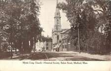 Medford Massachusetts Mystic Congregational Church Antique Postcard K82458