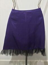 """Vintage Classy Purple and Black Handmade Half Slip Petticoat 30"""" Waist"""