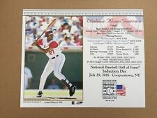 VLADIMIR GUERRERO LA ANGELS 2018 8X10 HALL OF FAME INDUCTION DAY CARD POSTMARKED