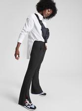 ATHLETA Stellar Flare Trouser Pants 4P (SP S P) Black   Stretch Work, Travel NEW