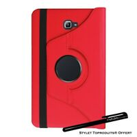 Housse Etui Rouge pour Samsung Galaxy Tab A 10.1 SM T580 Support Rotatif 360°