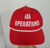 Air Operations Mesh Trucker Hat Red White Braid Sun N Fun Florida USA Made