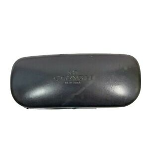 Coach Eyeglass Sunglass Clamshell Case Black - Used w Scratches / Scuffs