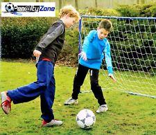 Fußballtor für Kinder Mini Fußball Tor aus Metal mit Netz Blau 182 x 122 x 61 cm