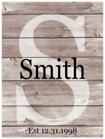 Your name Custom Personalized Family Name Wall Art Decor 9x12 Metal Sign SS10