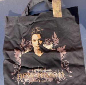 Twilight Saga New Moon Edward Black Tote Book Canvas Bag New With Tags NECA