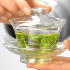Clear Glass Gaiwan 150ml Heat Resistant Traditional Gongfu Tea Tureen