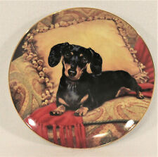 Danbury Mint Collector's Plate DACHSHUNDS Oh So Comfy Christopher Nick #B3750