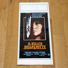 IL KILLER DELLA NOTTE locandina poster Leonard Mann Rachel Ward TERROR EYES AH50